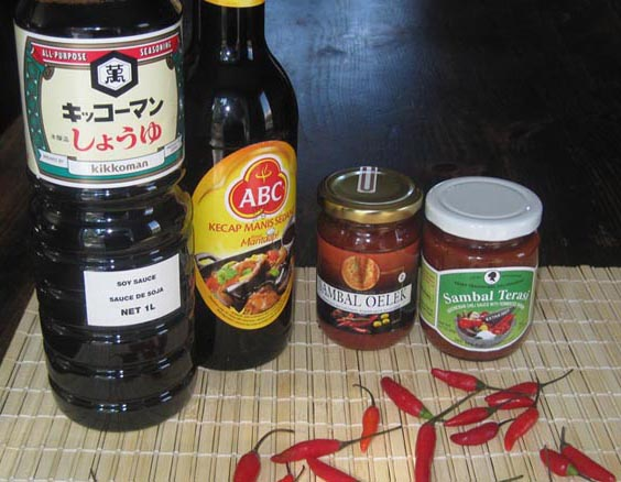 Ingredients for making Satay at home